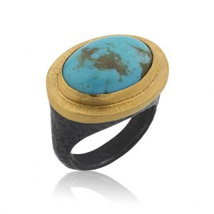 Turquoise ring by Lika Behar