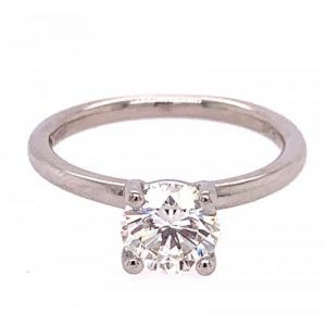 FANA PLATINUM ROUND DIAMOND SOLITAIRE ENGAGEMENT RING