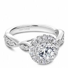 Noam Carver 14kt White Gold Diamond Halo Engagement Ring.