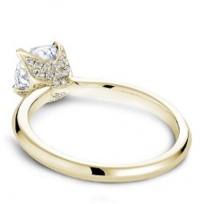 Noam Carver 14kt Yellow Gold Diamond-accented Solitaire Engagement Ring