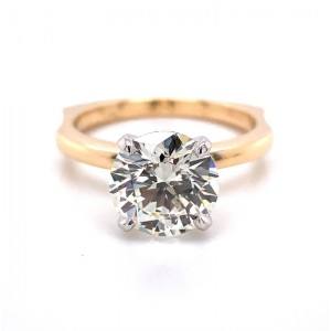 """14kt Yellow Gold """"perfect Fit"""" Round Brilliant Diamond Solitaire Engagement Ring"""