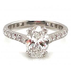 Gumuchian Platinum Oval Diamond Eternity Engagement Ring