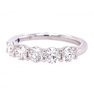 Fana 14kt White Gold Five-stone Diamond Band Ring