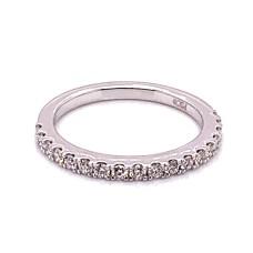 Peter Storm 14kt White Gold Prong-set Diamond Band Ring