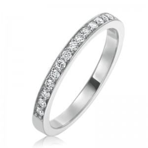 "Gumuchian Platinum ""Cinderella"" Channel Bead Set Diamond Band Ring"