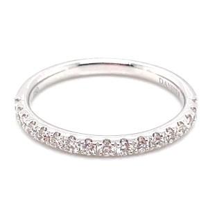 Christophe Danhier 18kt White Gold Part-Way Prong Set Diamond Band Ring
