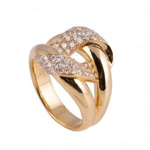 18kt Yellow Gold Diamond Knot Ring