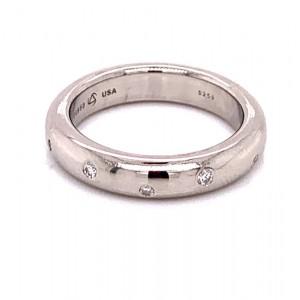 Estate Kretchmer Platinum Diamond Band Ring