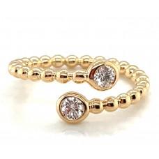 "Gumuchian 18kt Yellow Gold ""Nutmeg"" Diamond Bypass Ring"