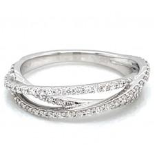 Peter Storm 14kt White Gold Diamond Cross-over Ring