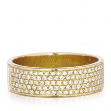 Christophe Danhier 18kt Yellow Gold Pave Diamond Ring