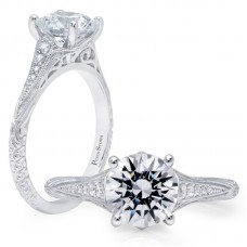 Peter Storm 14kt White Gold Engagement Ring Mounting