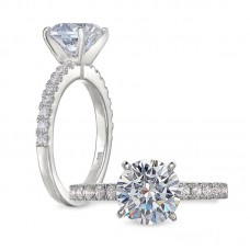 Peter Storm 14kt White Gold Diamond Engagement Ring Mounting