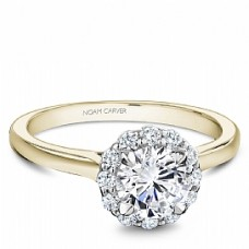Noam Carver 14kt Yellow Gold Diamond Halo Engagement Ring Mounting