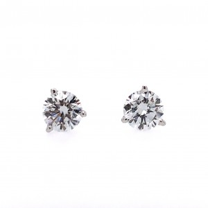 14kt White Gold 0.479 Carat Total Weight Diamond Stud Earrings