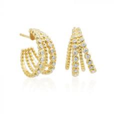 "Gumuchian 18kt Yellow Gold And Diamond ""Nutmeg"" Hoop Earrings"