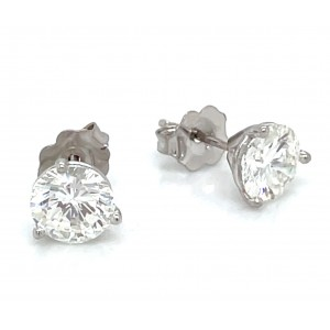 14kt White Gold 1.875 Carat Total Weight Diamond Stud Earrings