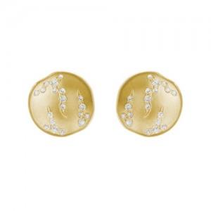 """14kt Yellow Gold """"Luna"""" Diamond Earrings"""