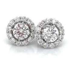 Peter Storm 18kt White Gold Diamond Halo Jacket Earrings