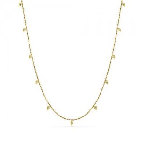 Gabriel & Co. 14kt Yellow Gold Diamond Dangles Necklace