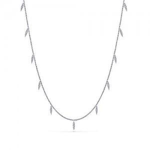Gabriel & Co. 14kt White Gold Diamond Dangles Necklace