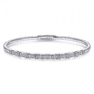 Gabriel & Co. 14kt White Gold Diamond Bangle Bracelet