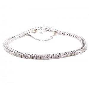 Estate 14kt White Gold 2.25 Carat Diamond Tennis Bracelet