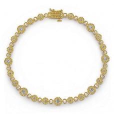 Gabriel & Co. 14k Yellow Gold Diamond Link Bracelet