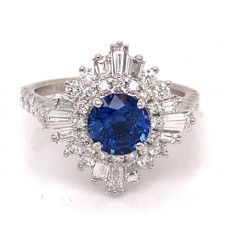 Noam Carver 14kt White Gold Sapphire And Diamond Ring