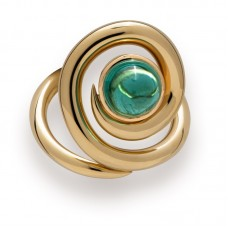 "Gumuchian 18kt Yellow Gold And Tourmaline ""Maze"" Ring"