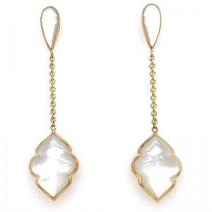 Kabana 14kt Yellow Gold  Mother Of Pearl Dangle Earrings