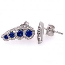 Fana 14kt White Gold Sapphire And Diamond Earrings