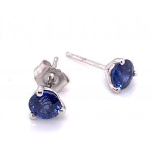 14kt White Gold 0.95-carat Sapphire Stud Earrings