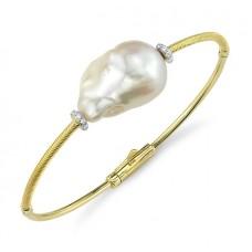 Sloane Street 18kt Yellow Gold Baroque Pearl Bangle Bracelet