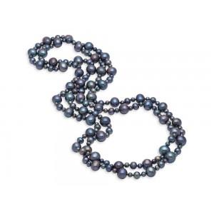 Mastoloni Dyed Black Freshwater Pearl Necklace