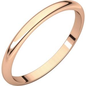 14kt Rose Gold 1.5mm Half-round Wedding Band