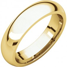 14kt Yellow Gold Gent's 5mm Comfort Fit Wedding Band