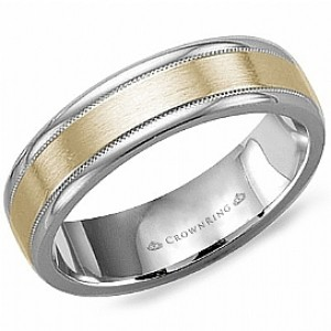 14kt Two-tone 6mm Wedding Band