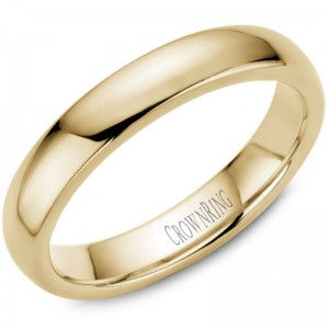 14kt Yellow Gold 4mm Domed Comfort Fit Traditional Wedding Band
