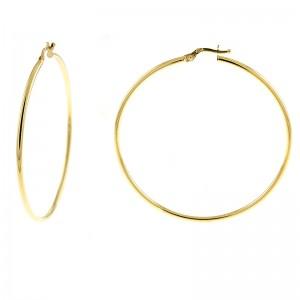 14kt Yellow Gold Large Hoop Earrings