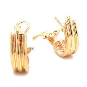 Estate 14kt Yellow Gold Half Hoop Earrings