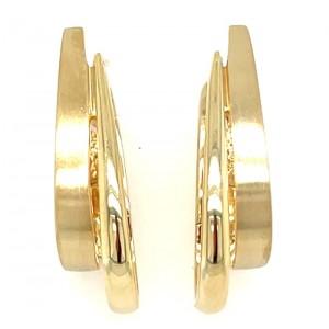 Estate 14kt Yellow Gold Hinged Hoop Earrings