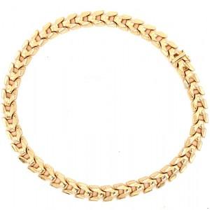 Estate 14kt Yellow Gold Fancy Link Vertebra Necklace