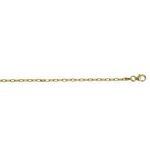 "14kt Yellow Gold 24"" Diamond Cut 2.2mm Flat Oval Link Chain"