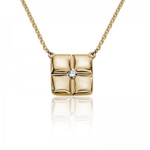 """14kt Yellow Gold """"Barcelona"""" Diamond-accented Necklace"""