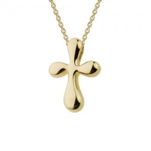 "14kt Yellow Gold ""teardrop"" Cross Pendant"