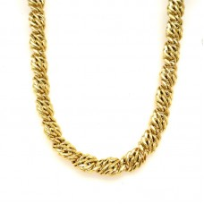 Estate 18kt Yellow Gold Fancy Link Necklace
