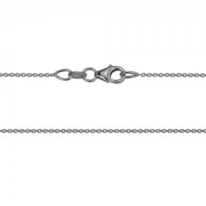 14kt White Gold 0.9mm Cable Chain
