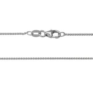 14kt White Gold Diamond Cut Wheat Chain