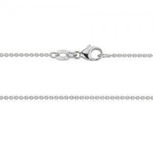 14kt White Gold Cable Link Chain
